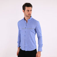 Custom Slim Fit Fashion European Latest Shirt Designs For Men