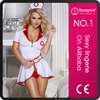 Factory stock north American one size spandex white and red sexy doctor girls lingerie