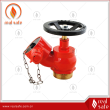 DN65 thread type oblique brass fire hydrant valve