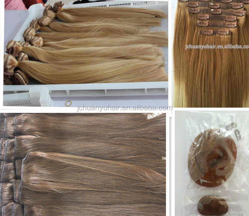 Hot Type 10 pcs 22 Clips Full head set Clip In Human Hair Extension, clip on hair