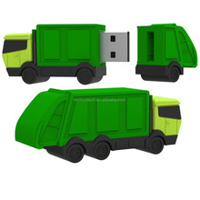 Compacted Garbage Truck Shape USB Flash Drive Memory Sticks