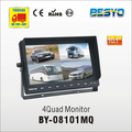 Vehicle reversing 4 quad reversing monitor BY-C08101MQ