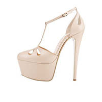 Merumote Sexy Shoes 16cm Very High Heels Girls High Platform Heel Sandals