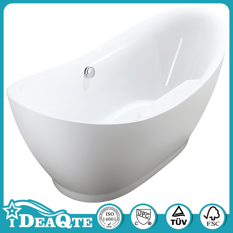 Acrylic Freestanding Double Slipper Jetted Bathtubs for Sale