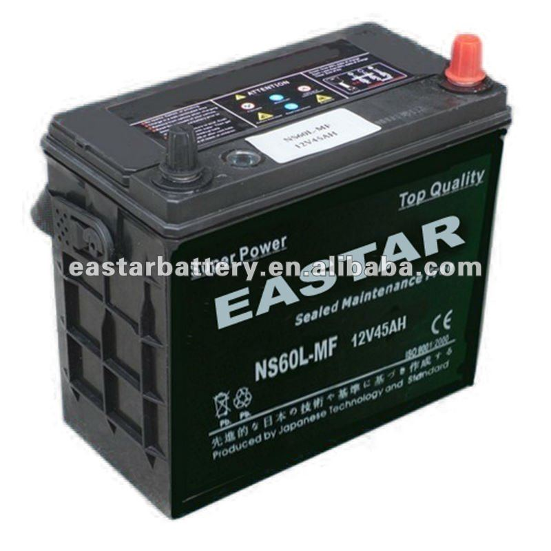 JIS Standard Maintenance Free Car Battery 12V45ah