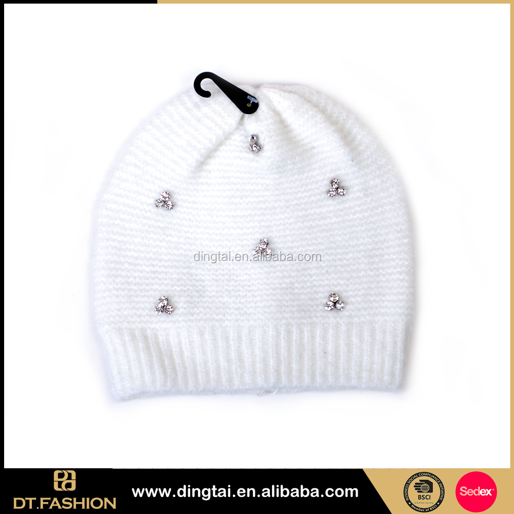 Custom fancy beanie warm knitted fashion funky winter hat