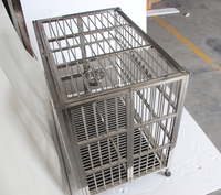 stainless steel brand new folding cage aluminum dog show trolley cage