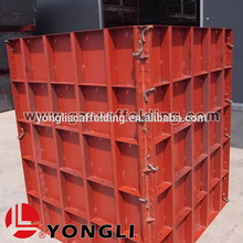 Steel concrete wall formwork used beam