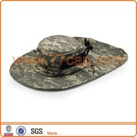 Hot selling custom made cool camo bucket hats with back neck flap, Safari hats