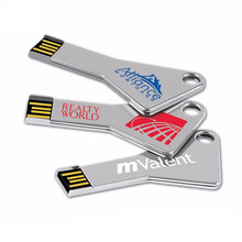 New products bulk cheap Promotional USB/4GB 8gb 16gb 32gb 64gb USB key Chain/Metal car key shape USB flash with custom logo