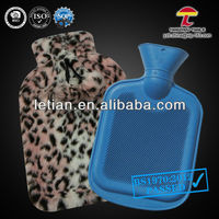 large size animal skin hot water bag plush cover