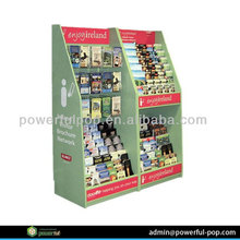Manufacture literature store CD music cardboard pop floor display stand