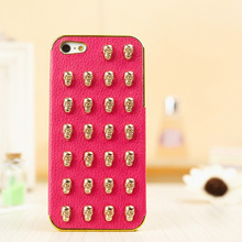 Professional skull sticker cell phone 3d cases for iPhone 5 Shenzhen manufacturer