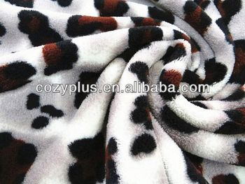 China Polyester Coral Fleece top 10 manufacturers zebra printed coral fleece
