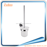 Zedoo ZD-1111 Glass chrome surface finishing brass Toilet Brush Holder