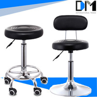 Comfortable leather pu bar furniture/chromed base with swivel creative bar chairs