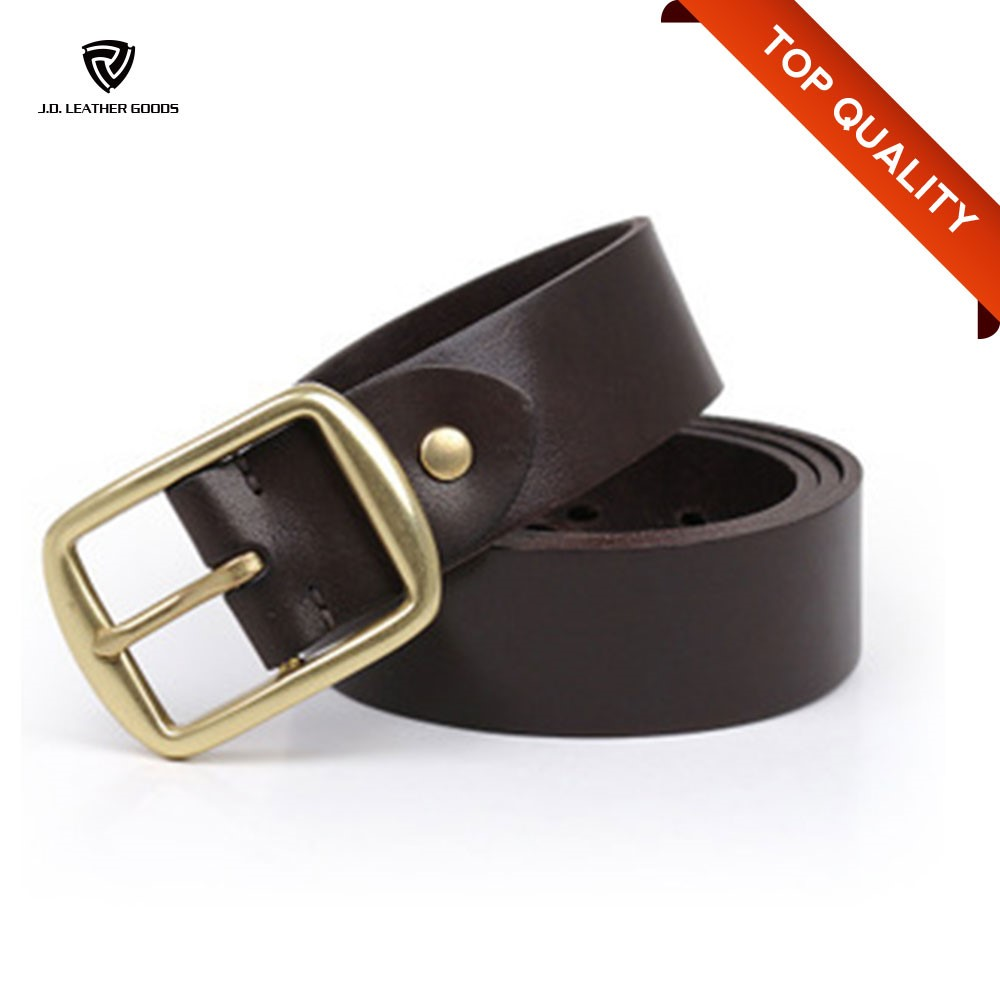 mens customized wholesale custom buckle genuine leather