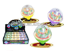 Flashing kids electronic spinning top with light