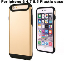 Mix Color Hybrid TPU Matte Plastic Hard Case Protector Shell Ultra Slim Phone Back Cover For iPhone 6 6Plus 4.7 5.5