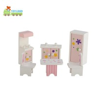 Miniature Wooden Dollhouse Toy Furniture Set