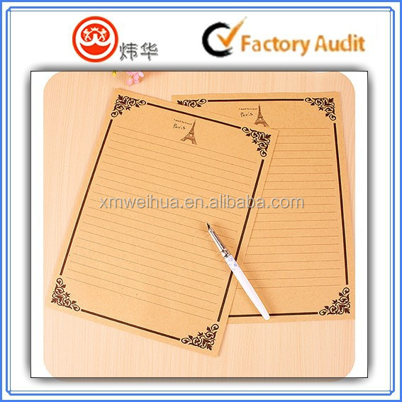 HIgh quality letter paper; writing paper; letter pad; notepaper; stationery