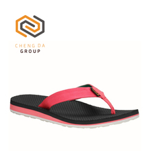 China manufacturing latest top brand durable nylon webbing rubber flip flops slippers