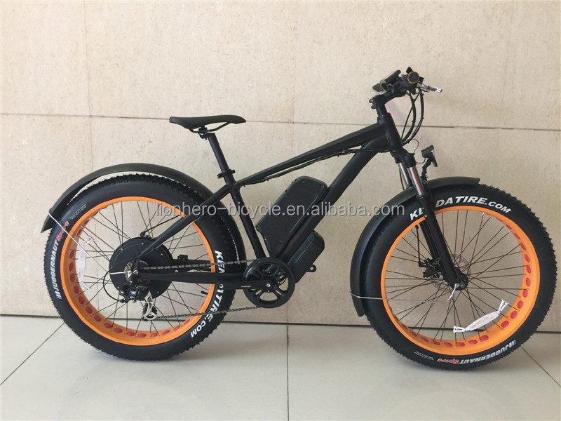 Manufacturer selling 26 4.0 inch 250 - 1000 W motor full suspension fat tire electric bike / electric mountain bicycle
