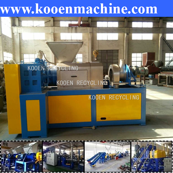Wet plastic film squeezing drying machine with high output