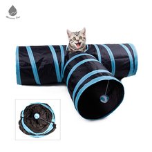 Factory Directly Sell Pet Toy Foldable Collapsible Activity Play Toy 3 Way Cat Tunnel