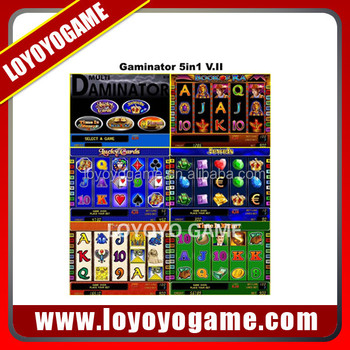 Multi Gaminator 5 In 1 - 45% slot game machine pcb