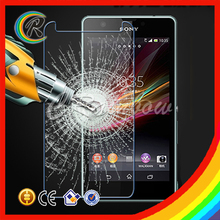 Cheap phone tempered glass for Sony Xperia ZR m36h glass screen film