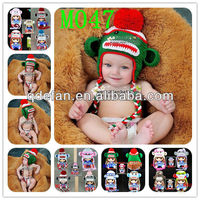 handmade cotton baby hats wholesale crochet animal monkey knit cap winter earflap tuque infant toddler acrylic beanie minions