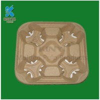 Custom Design Paper Cup Tray for Cup Carrier