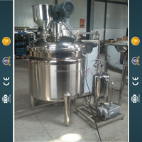 Vacuum high shear emulsifying mixing machine for shampoo,lotion,facial cream