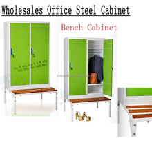 metal locker for changing room with bench/ locker workbench/ changing room locker