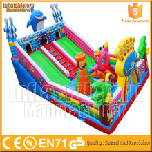 commercial happy hop bouncy castle with slide, inflatable bouncy slide happy hop bouncy castle for sale