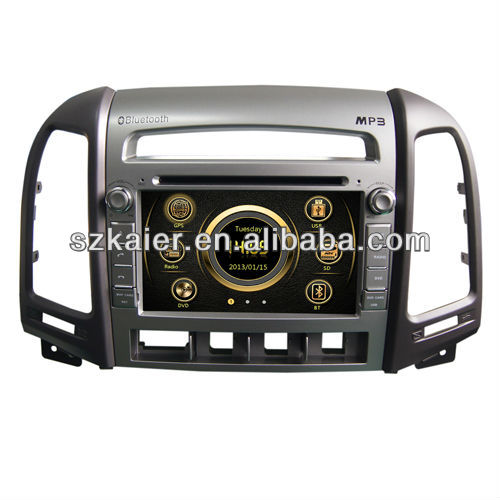 car multimedia gps for Hyundai Santa fe with GPS/Bluetooth/Radio/SWC/Virtual 6CD/3G internet/ATV/iPod/DVR