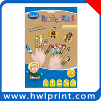 NEW paper DIY kids party toy finger puppets