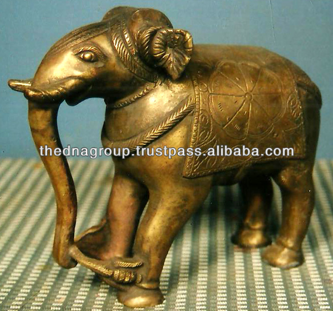 Antique famous brass animal statues-104