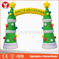 Inflatable Christmas tree arch, large Christmas inflatables