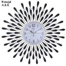 MDF Colorful Wall Clock for Living Room with Taiwan Movement