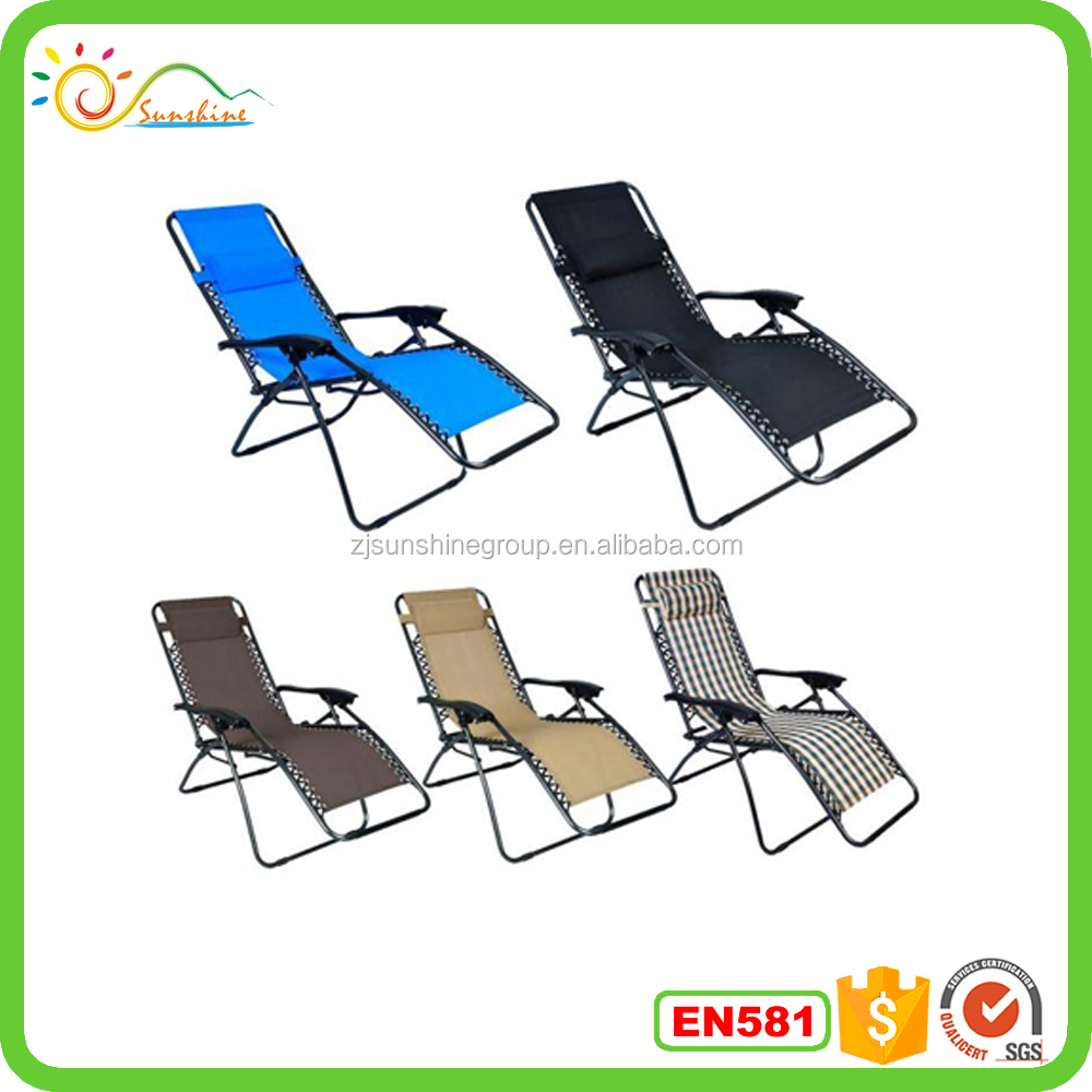 Folding zero gravity chair recliner/outdoor sling zero gravity chair