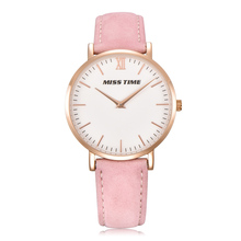 2017 new style beautiful fancy leather quartz movt wrist lady watch women