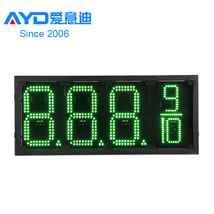 Advertising 4 Digital Bright Full Color LED Gas/ Fuel/ Petrol Station Digital Price Sign Display