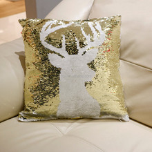 Sequin Sofa Pillow Cover Embroidery Cushion Cover