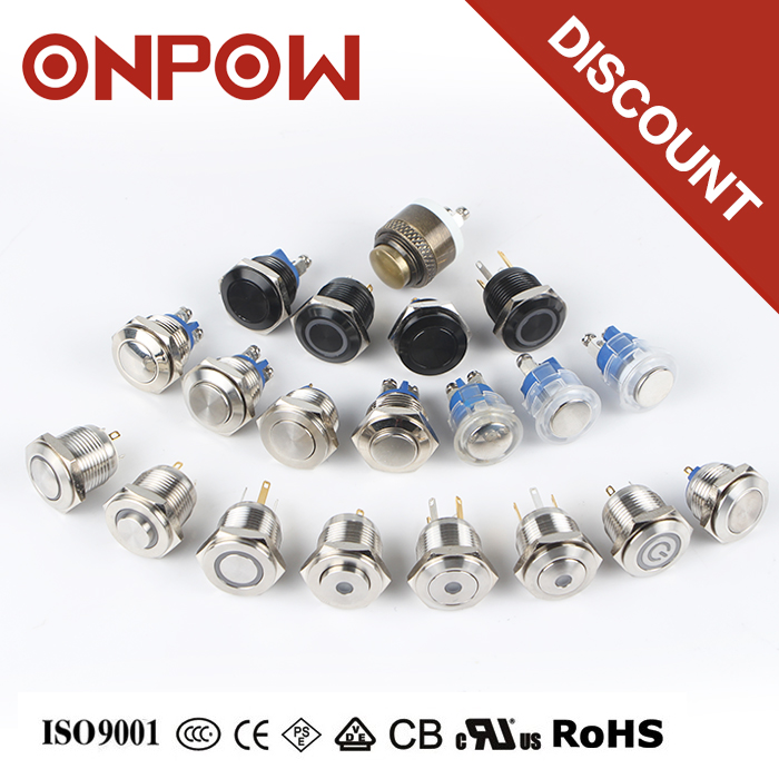 ONPOW bi-color led push button micro switch for toys