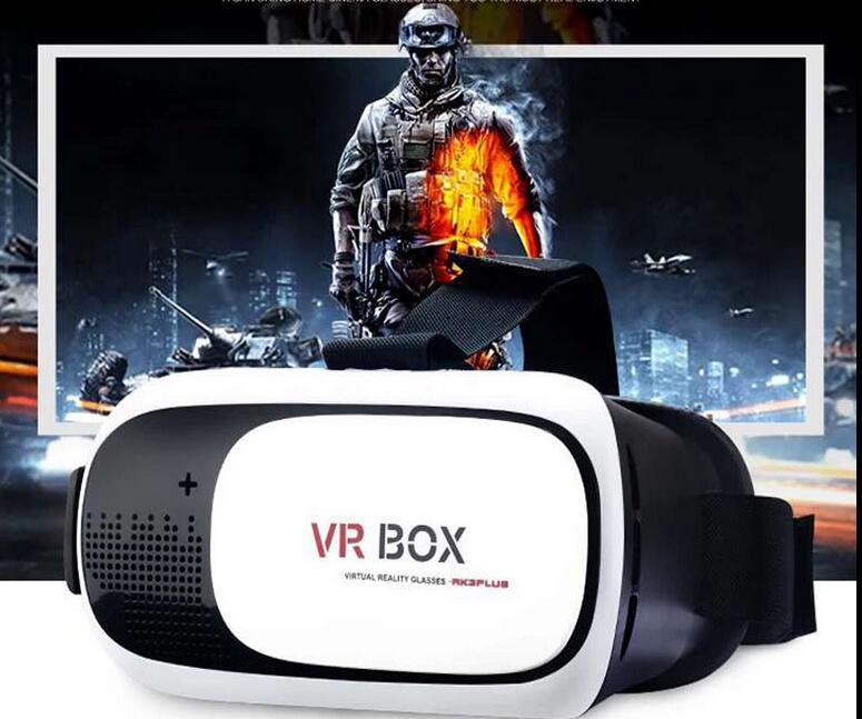 VR Box 2nd Gen Virtual Reality 3D Glasses with Glass Film with Bluetooth Remote Control