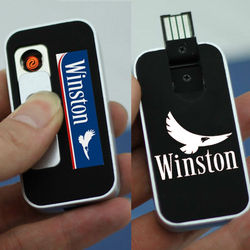 SILFA custom logo rechargeable USB lighter motorcycles gifts