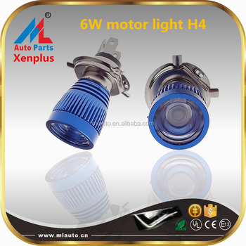 M11A H4 LED motorcycle head light lamp 6W dual beam led motorcycle bulb