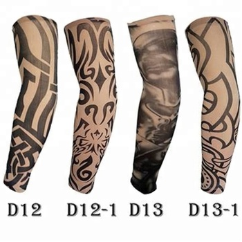 KaPin cheap sun protective tattoo printed fashion arm sleeve for men women